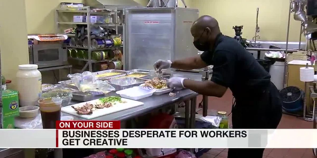 Businesses desperate for workers get creative