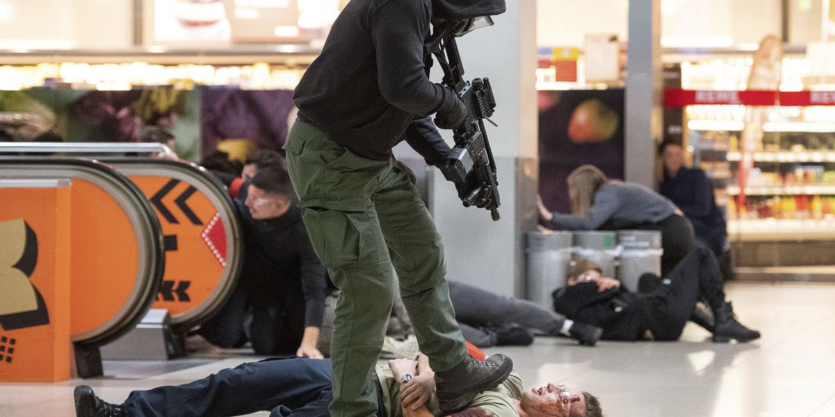 German police conduct anti-terror drill at Cologne airport