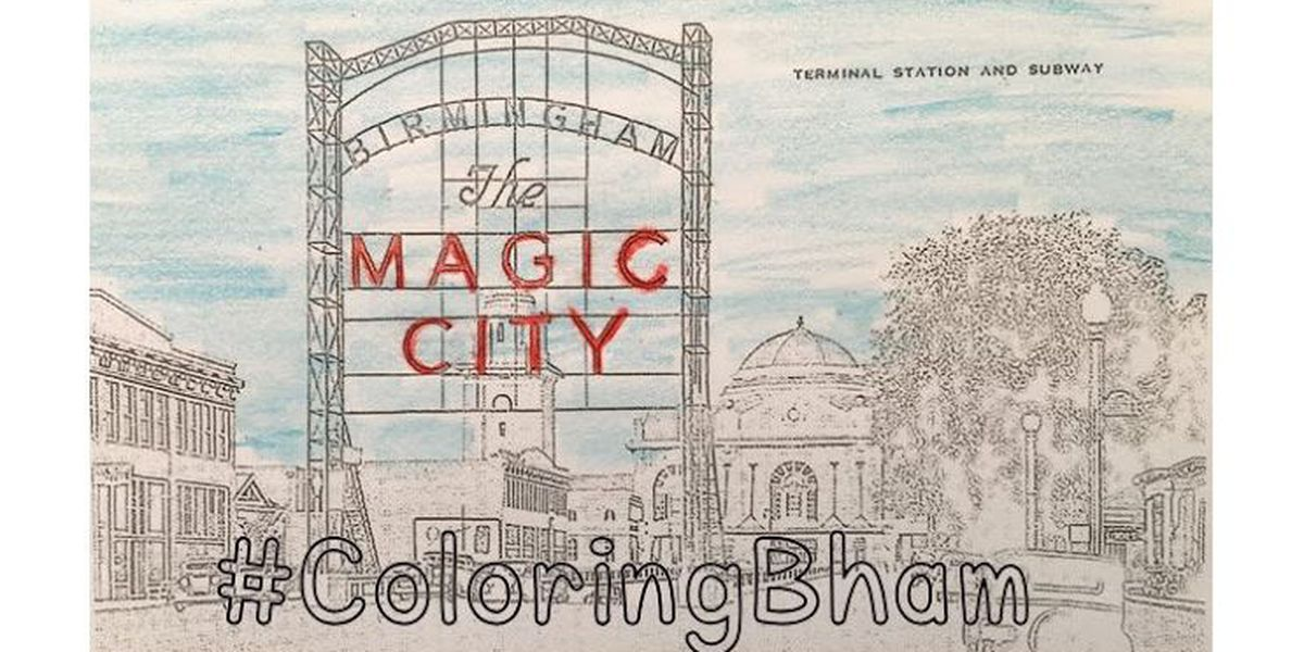 #ColoringBham at the Birmingham Public Library