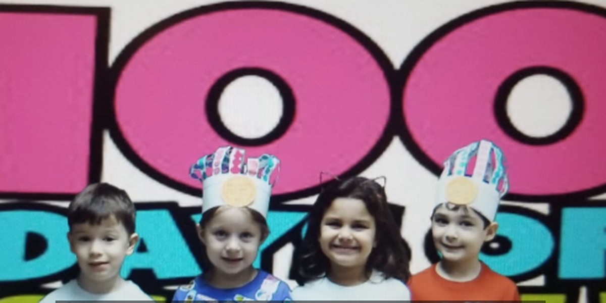 Alabaster students celebrate 100 days of school