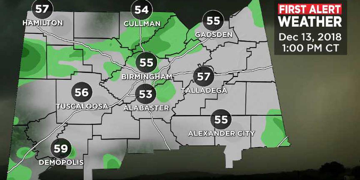 Rain chances return Thursday morning
