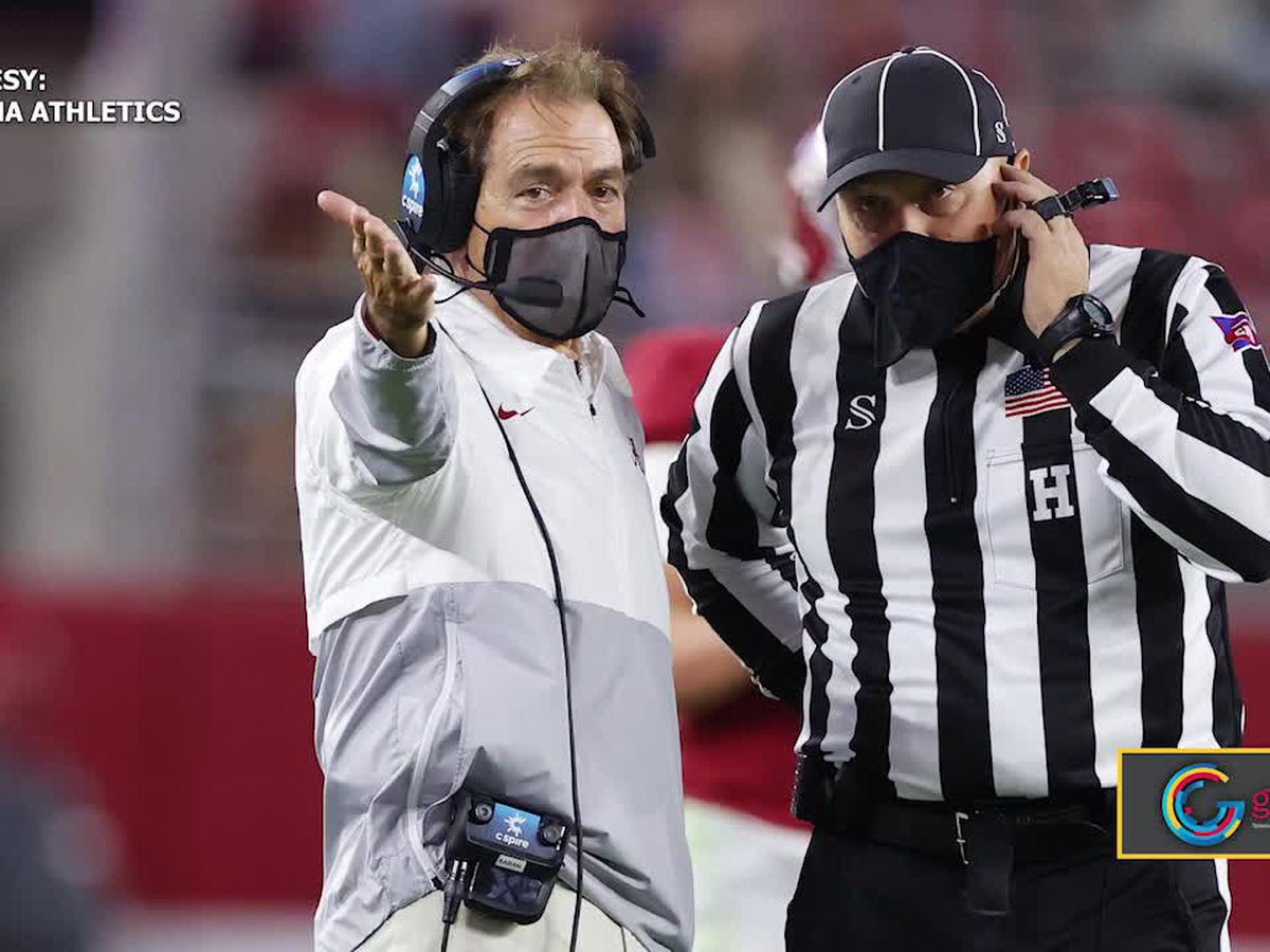 Nick Saban cleared to return to the field this weekend