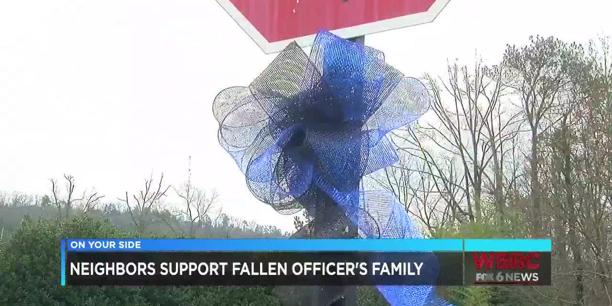 Neighbors support fallen BPD officer's family