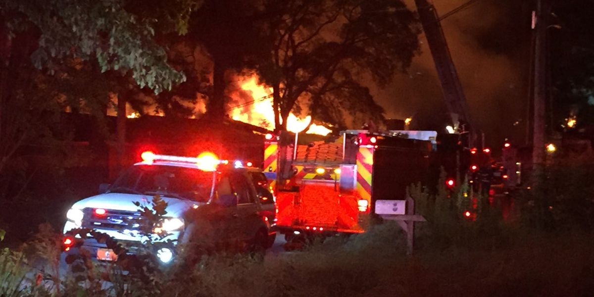 No injuries reported in massive Center Point duplex fire
