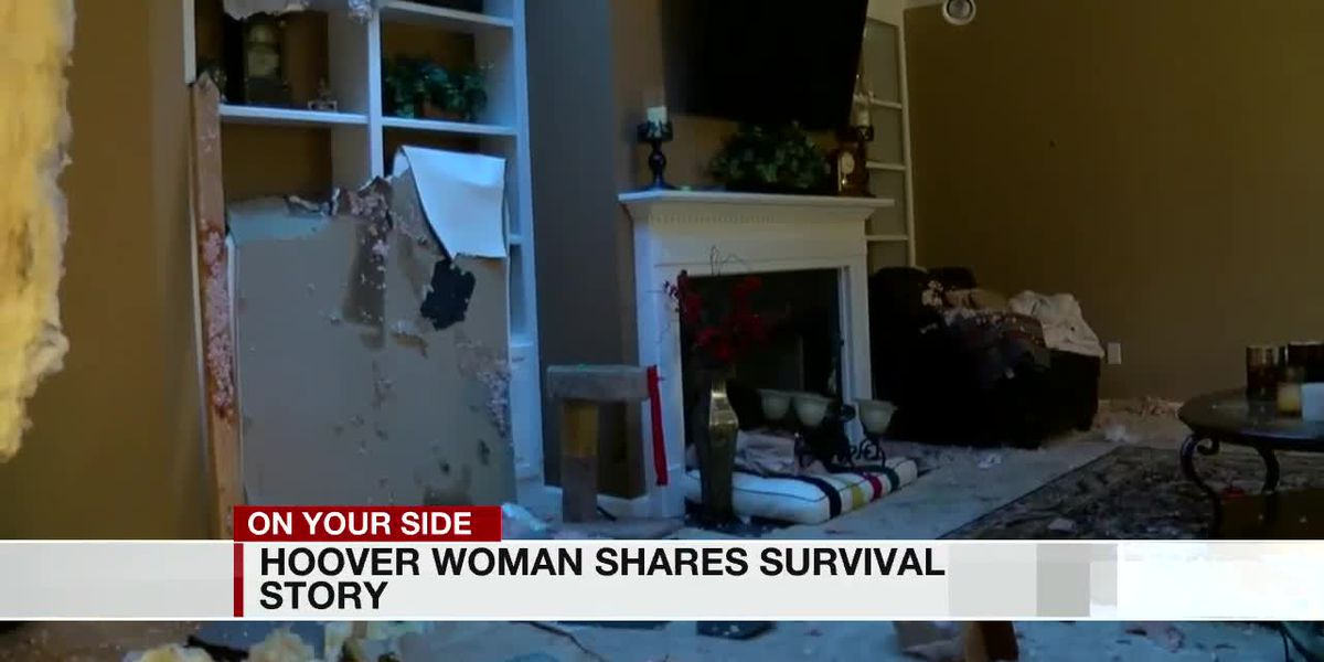 Hoover woman credits her son for warning her of incoming tornado