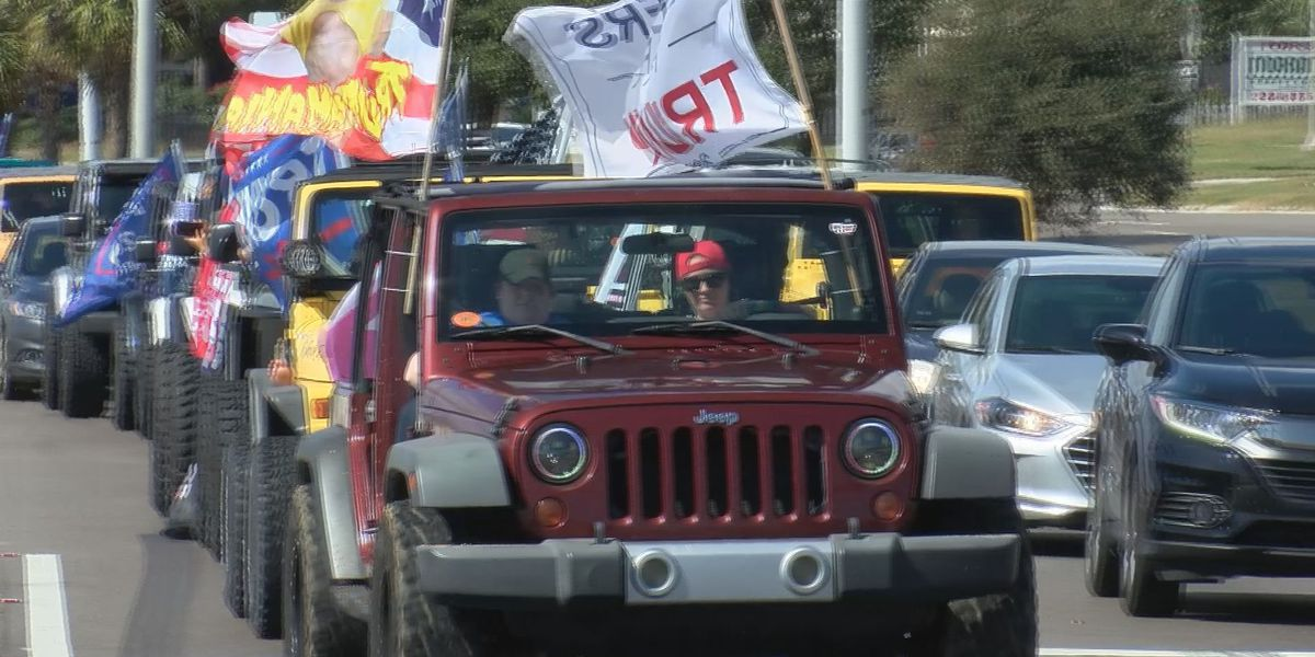 Jeepers and boaters for President Trump rally ahead of Election Day