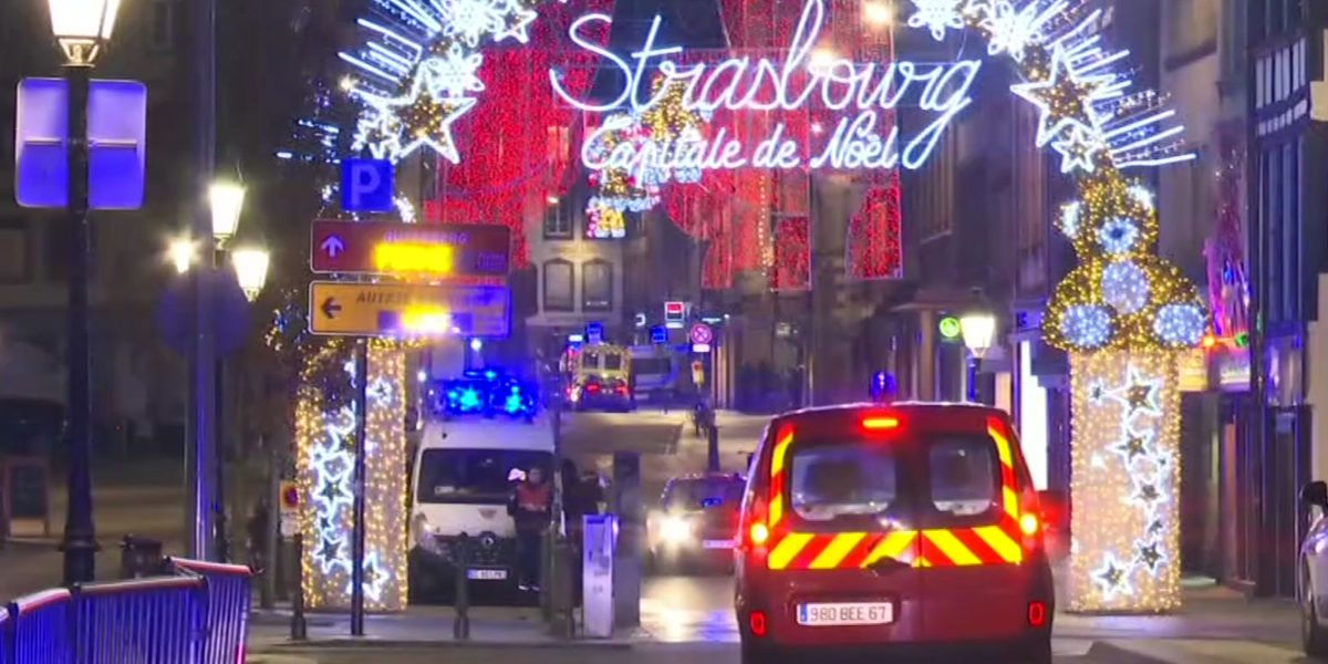Attack near French holiday market kills 3; suspect at large