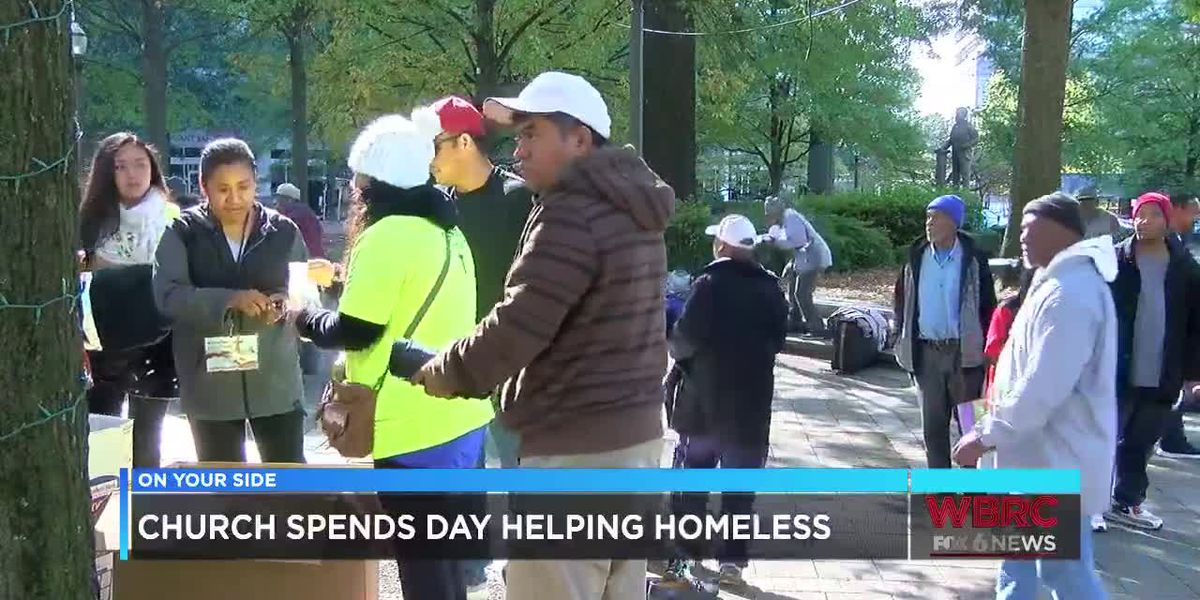 Church spends day helping homeless