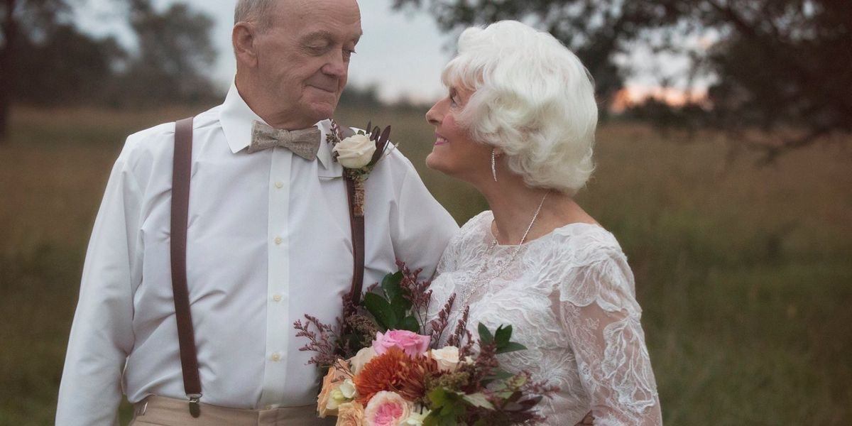 Couple who won hearts with 'Notebook'-themed photoshoot renew vows for 60th wedding anniversary