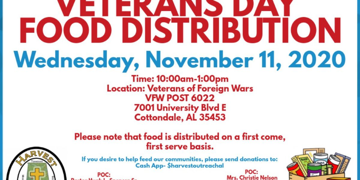 Harvest Outreach Ministry hosts Veterans Day food giveaway