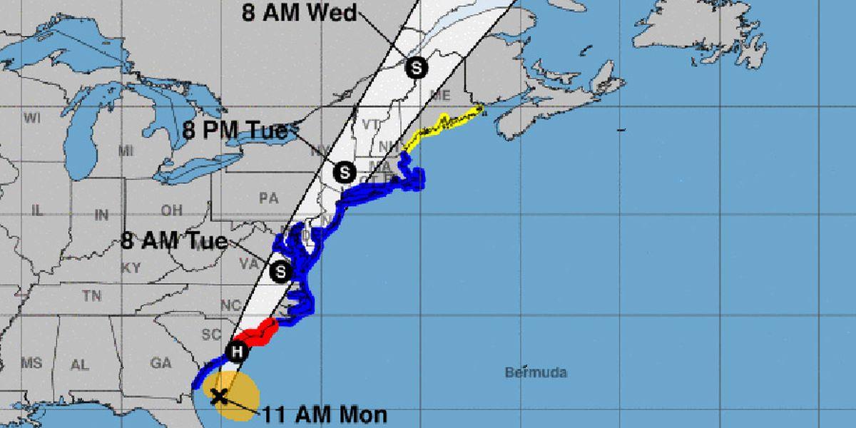 Isaias regains hurricane strength heading for Carolinas
