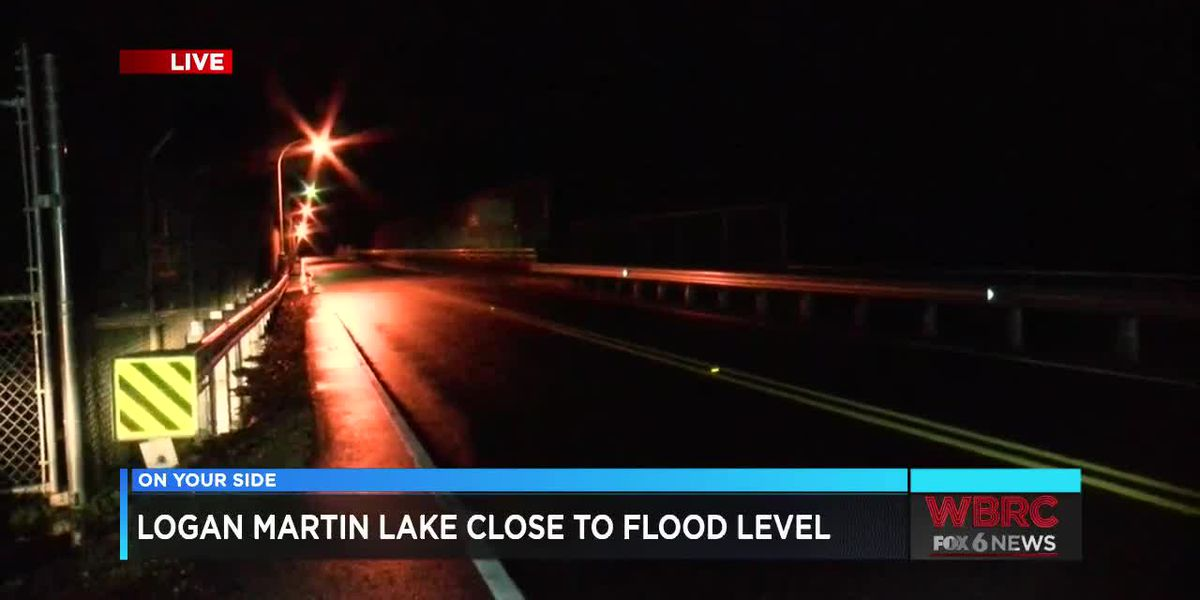 Logan Martin close to flood levels