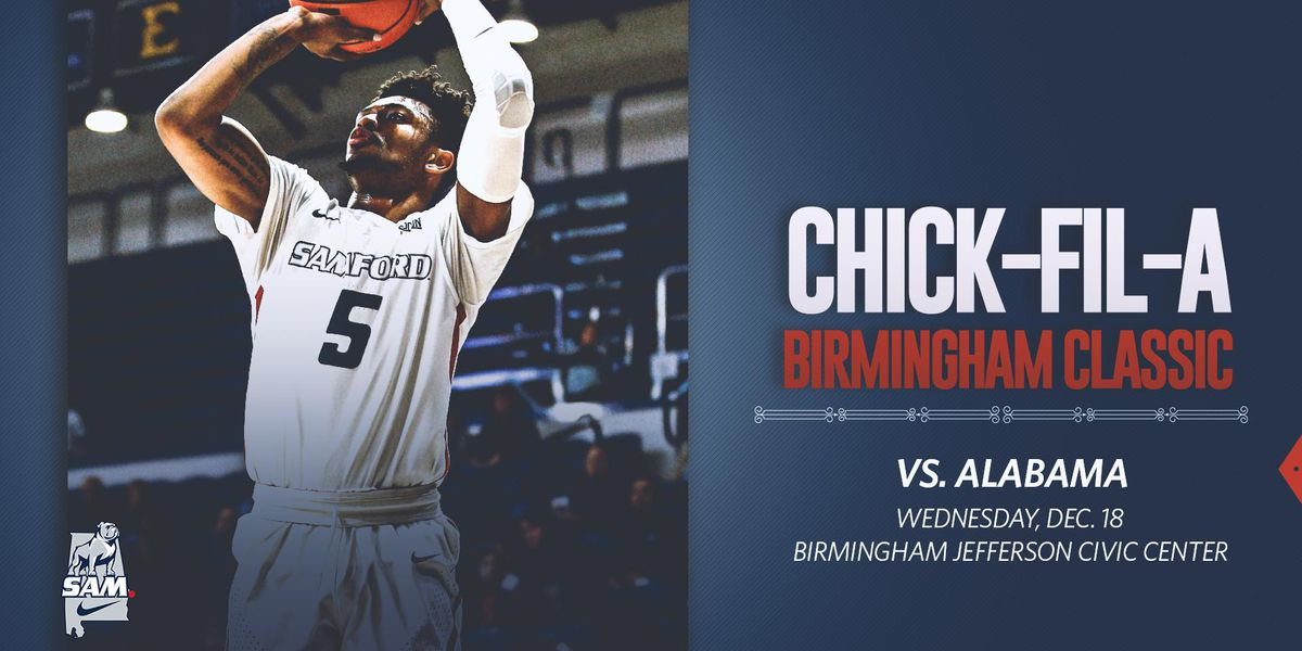 Samford taking on Alabama basketball in Chick-fil-A Birmingham Classic