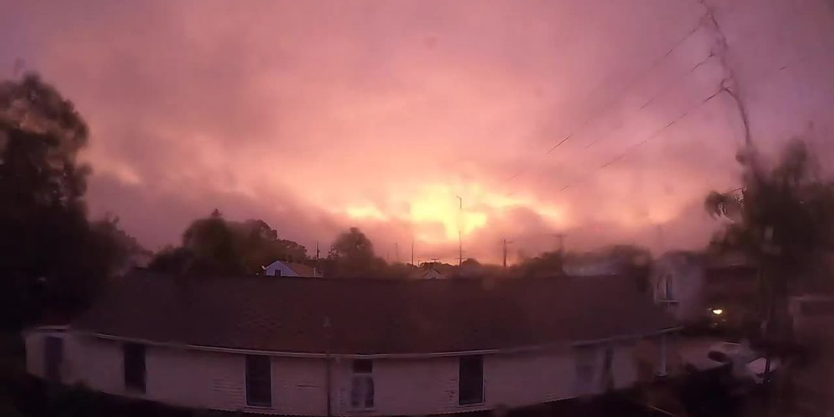 WATCH: Timelapse captures eerily calm eye of Zeta moving over NOLA