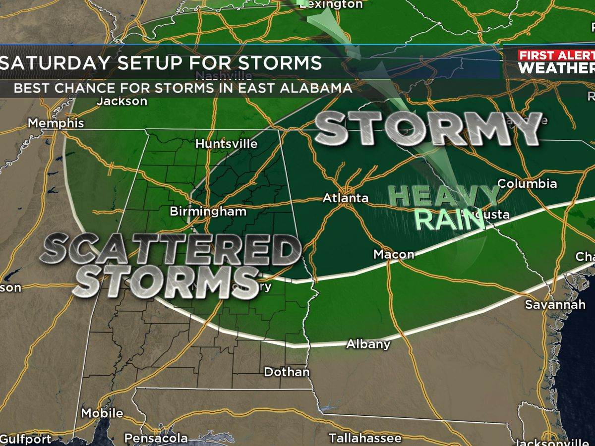 FIRST ALERT: Rain returns Saturday afternoon