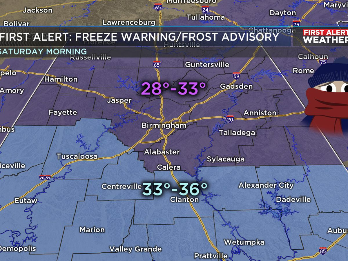 FIRST ALERT: Freezing temperatures again overnight