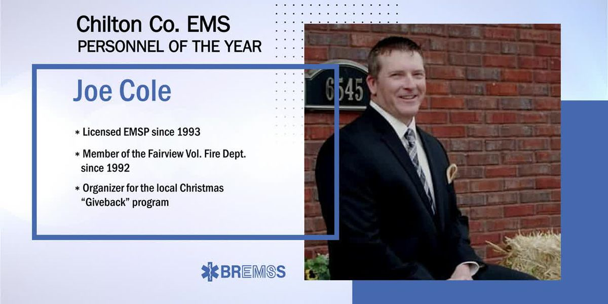 BREMSS Emergency Medical Services Personnel of the Year: Joe Cole