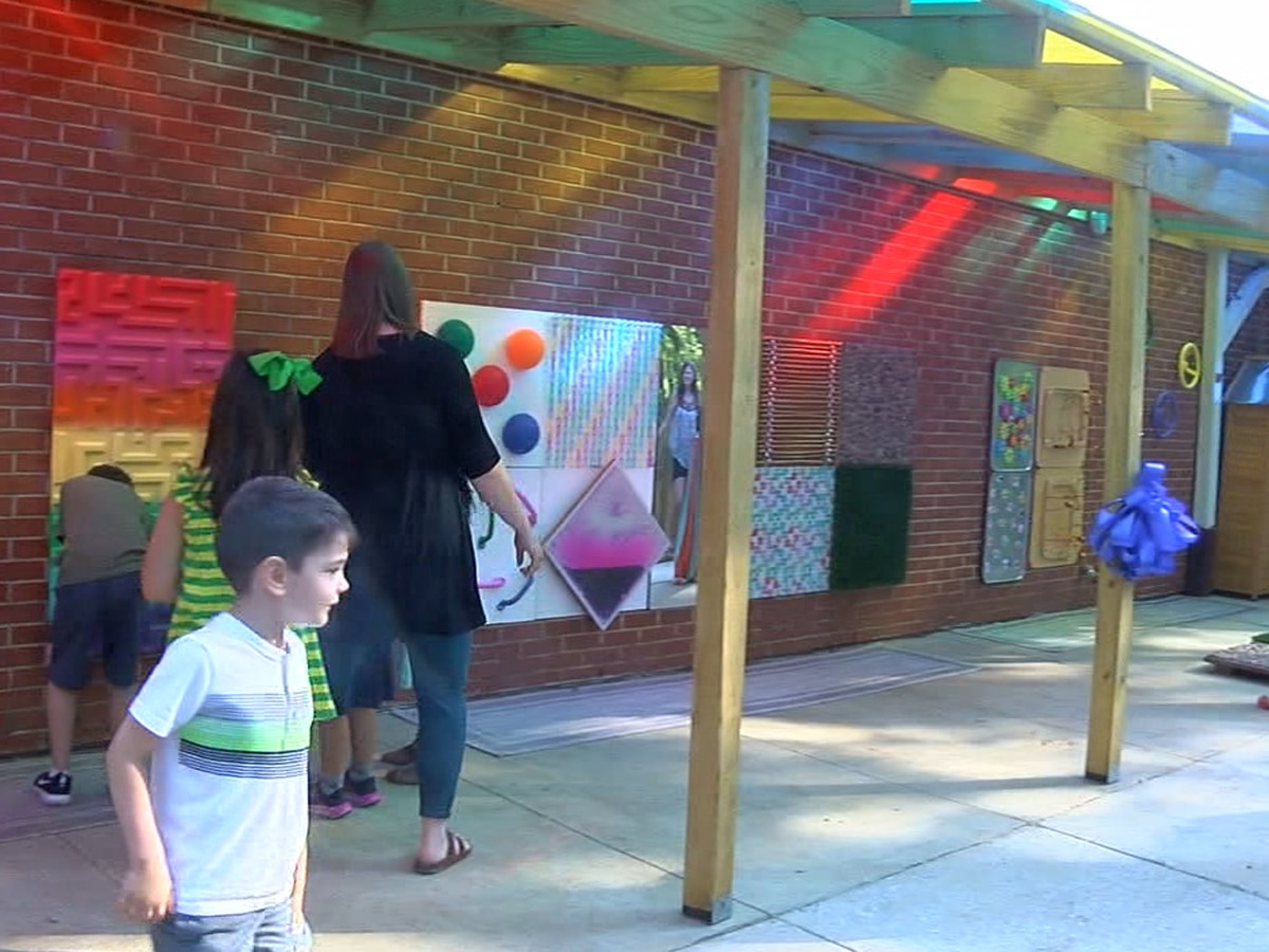Montevallo Elementary gets $10,000 Sensory Path that expands outside