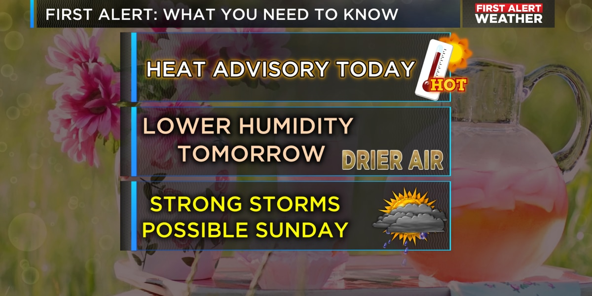 FIRST ALERT: for 100+ feeling air through 7 p.m.