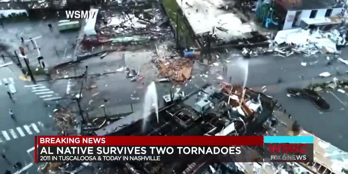 Alabama couple who survived deadly 2011 tornado, also survive Tuesday's deadly tornado in Nashville