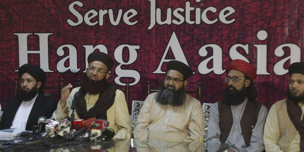 Woman freed in blasphemy case still in hiding in Pakistan