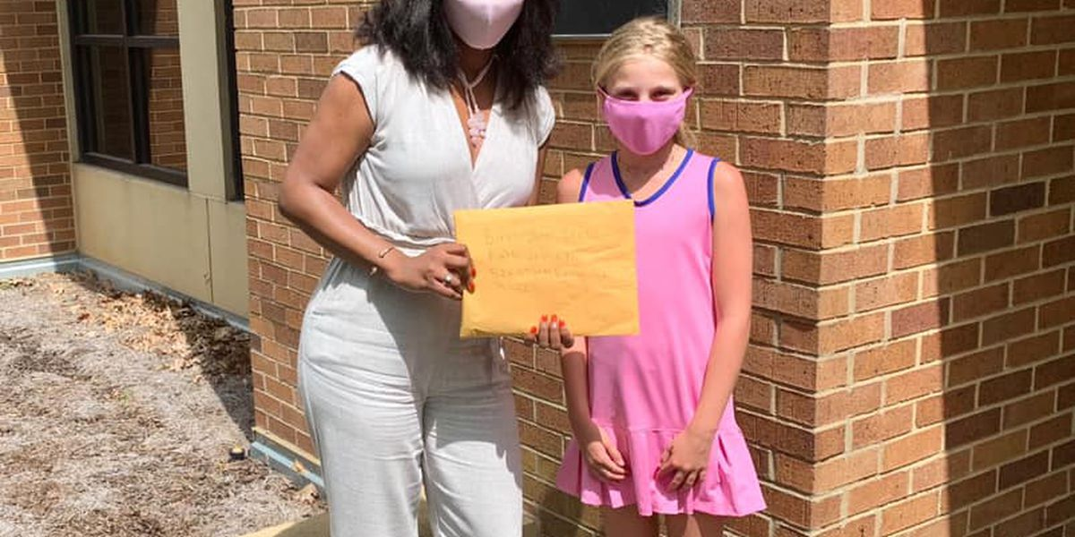 Children donate money raised from lemonade stand to B'ham Civil Rights Institute
