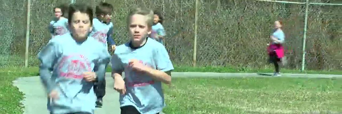 VIDEO; Snow Rogers Elementary Students Run for a Cause