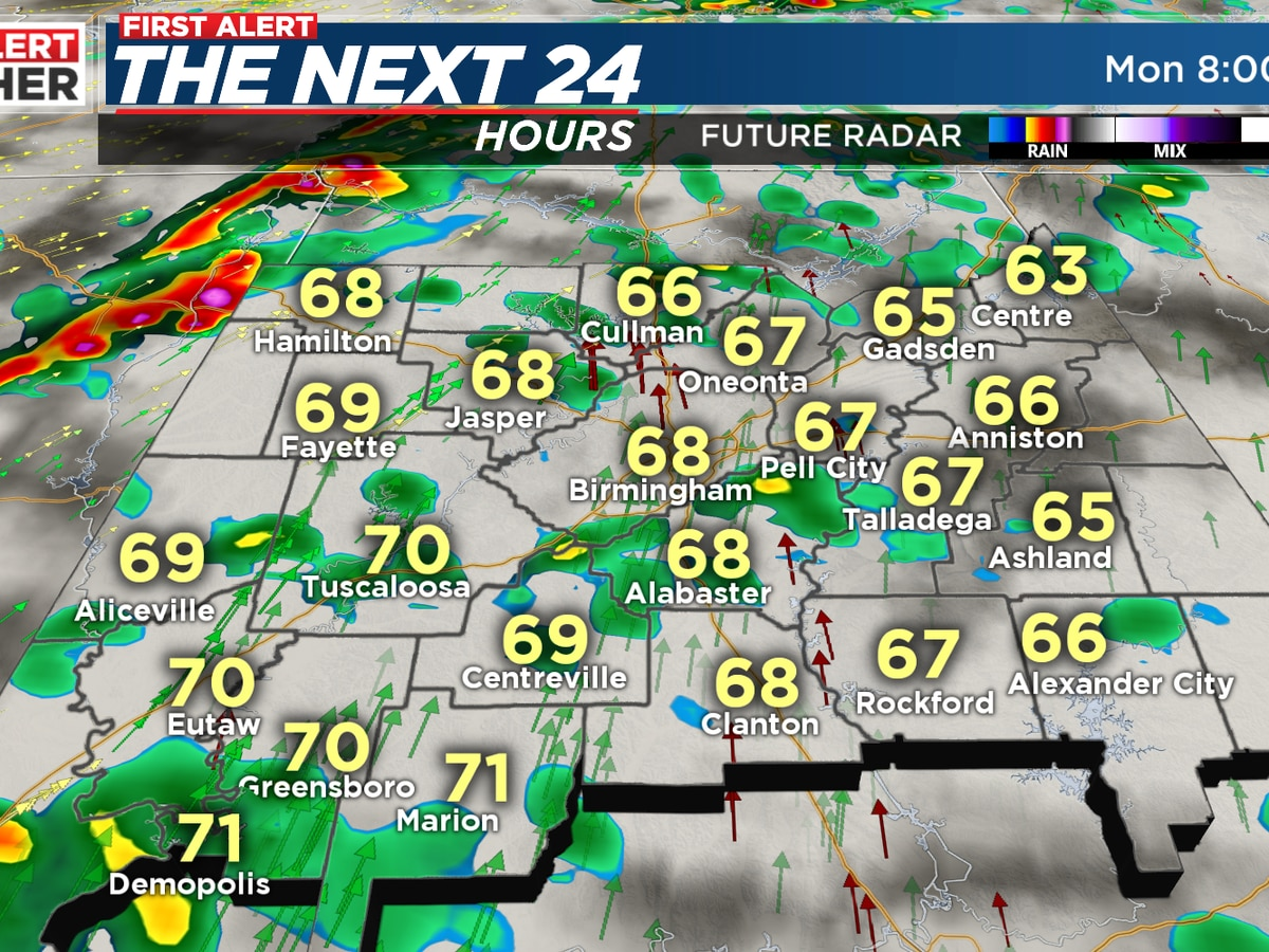 FIRST ALERT: Potential for strong storms Monday night