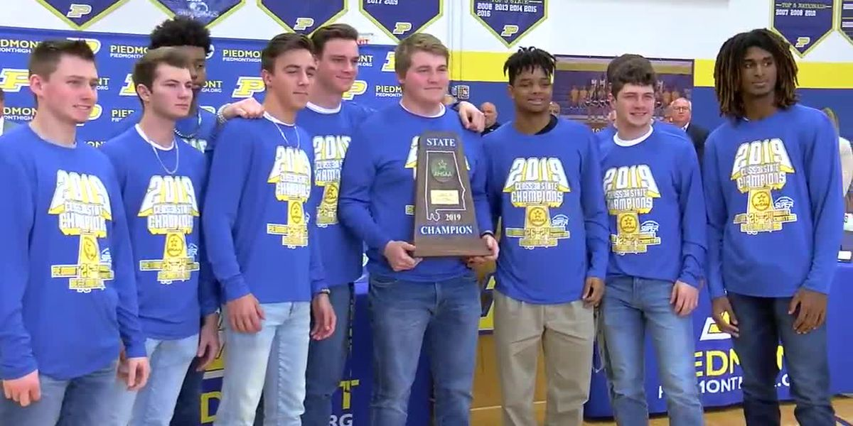 Piedmont celebrates state football title