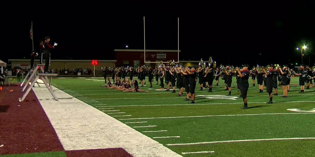 The Pinson Valley H.S. Marching Chiefs perform through COVID-19