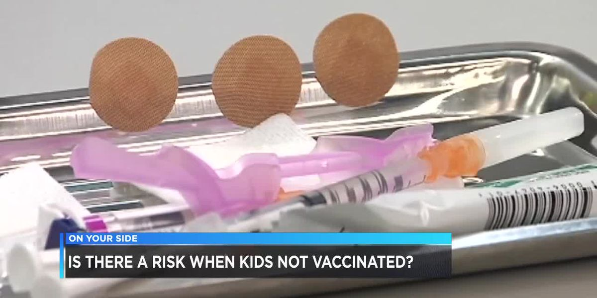 Is there a risk when children are not vaccinated?