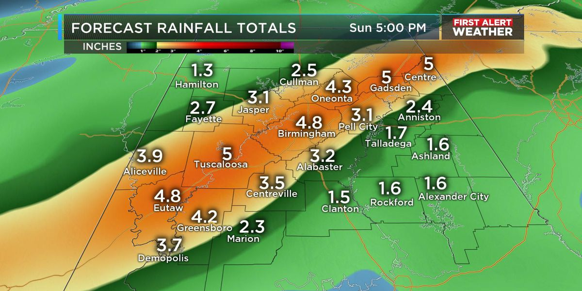 FIRST ALERT Update: Periods of heavy weekend rainfall
