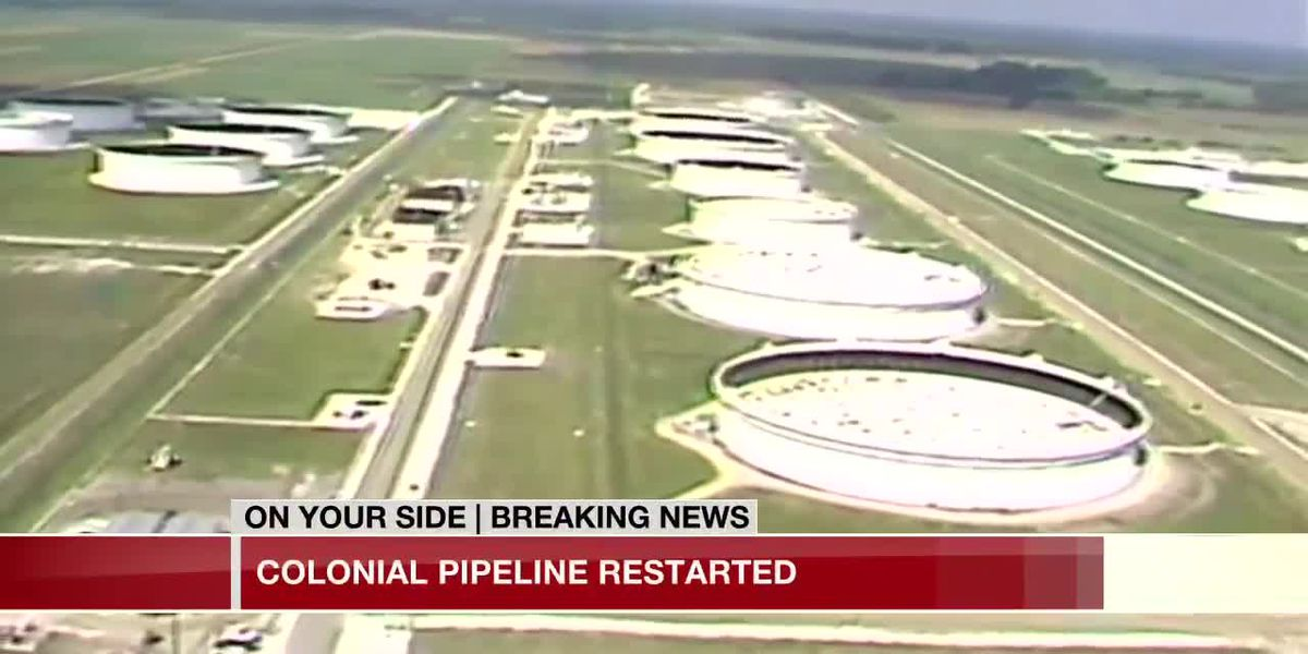 Colonial Pipeline restarted