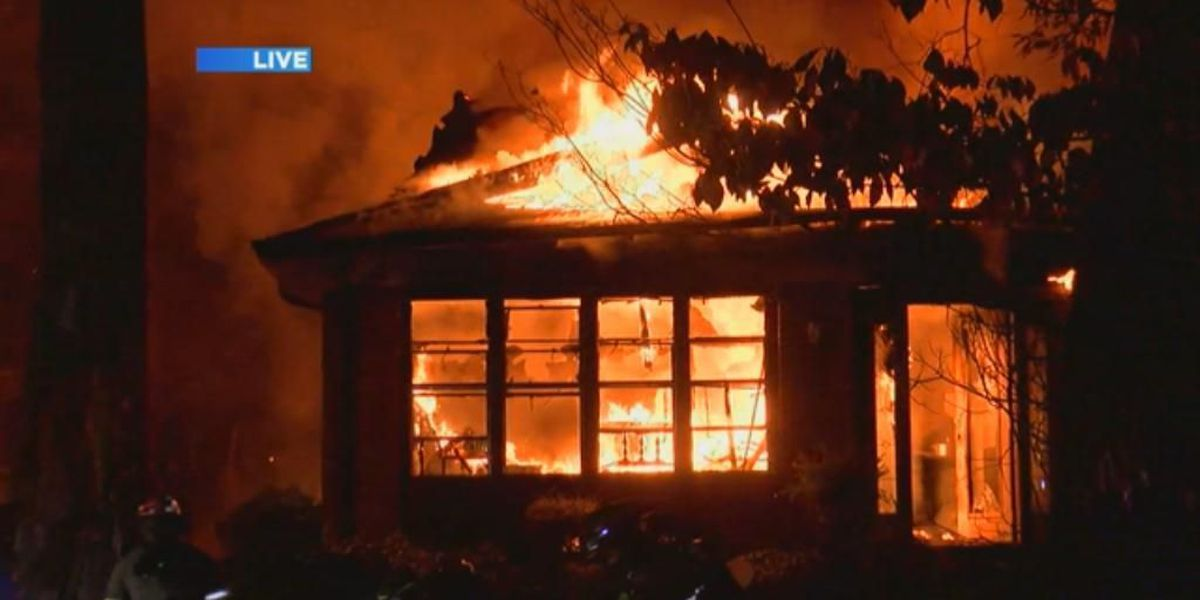 Homes catch fire in Ensley early Friday morning
