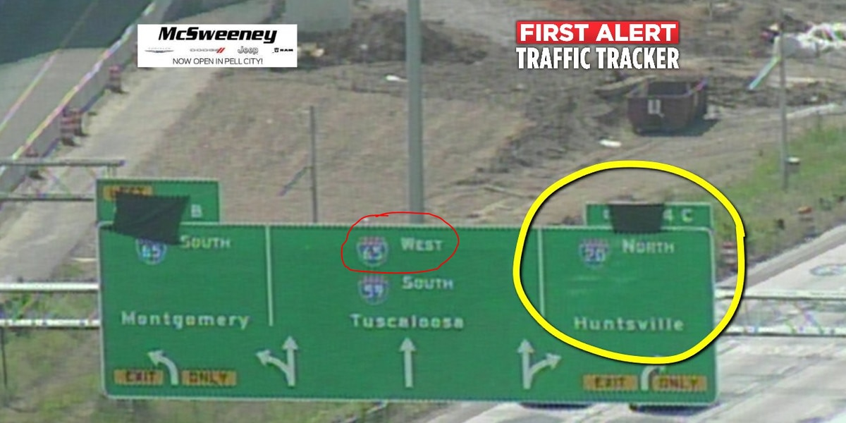 65 West? 20 North? New Malfunction Junction sign mislabels interstates