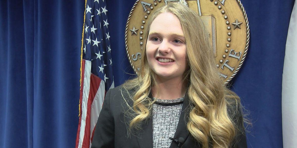Huntsville student recognized by AL Senate for building prosthetic foot for veteran