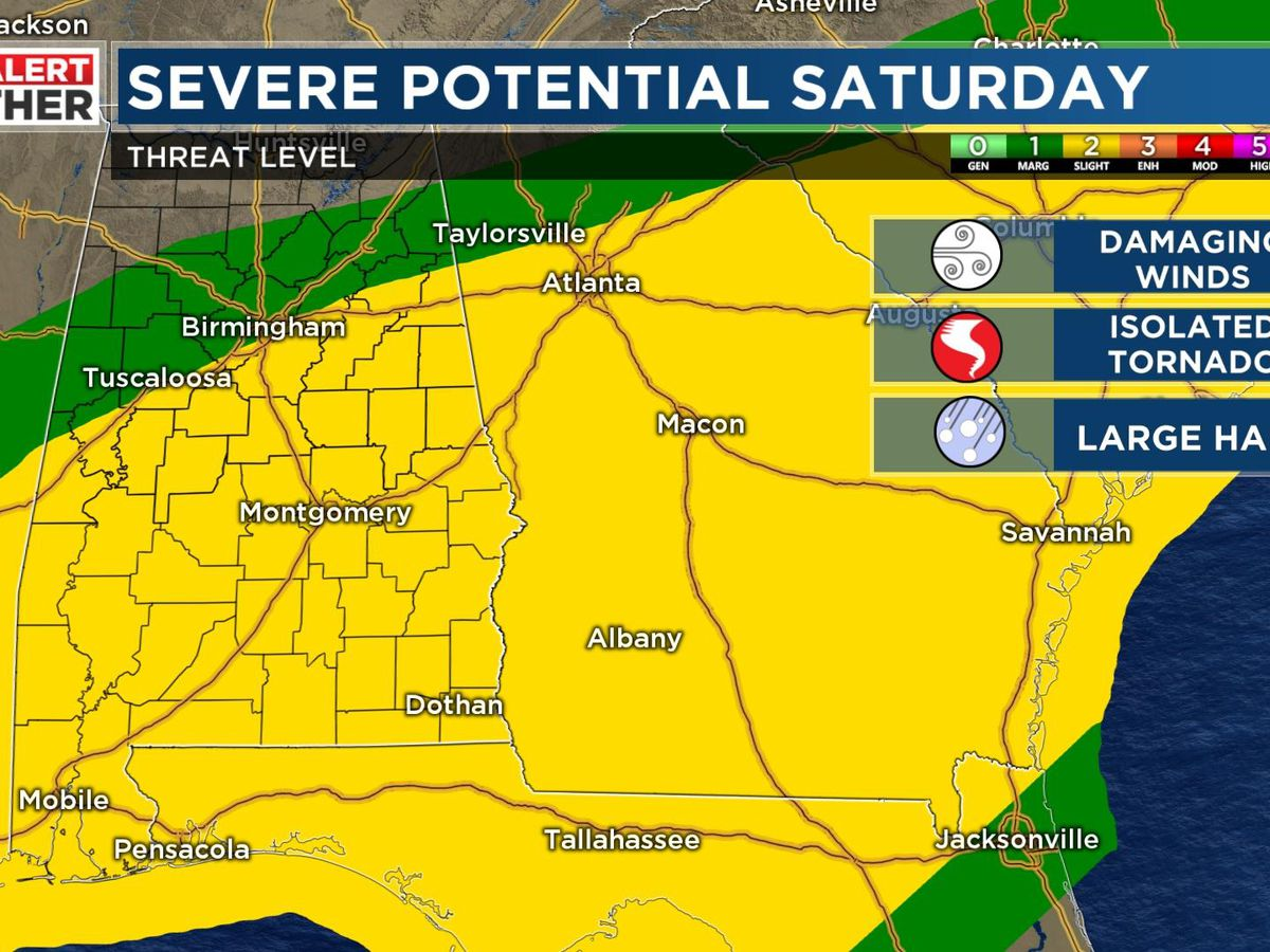 FIRST ALERT: Heavy rain and strong storms Saturday morning