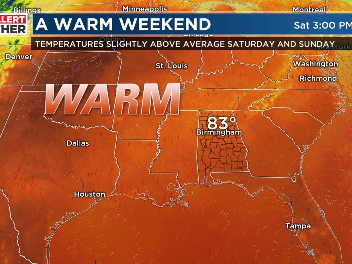 First Alert for warmer temperatures this weekend