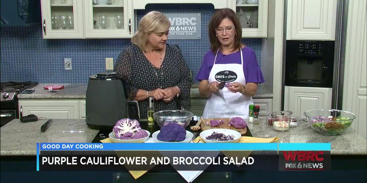Grits and Gouda: Purple Cauliflower and Broccoli Salad