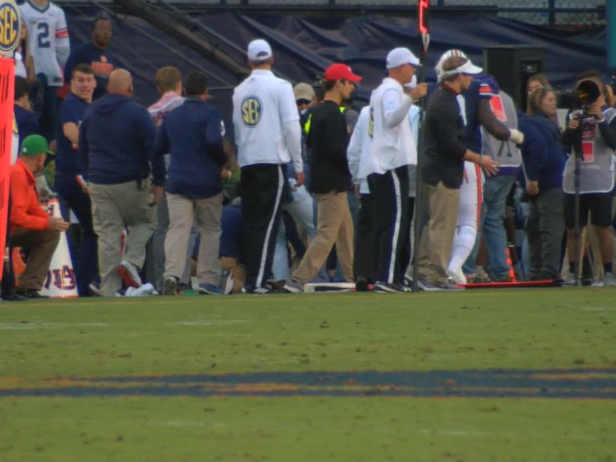 University of Georgia athletics intern injured in Auburn vs. Georgia game