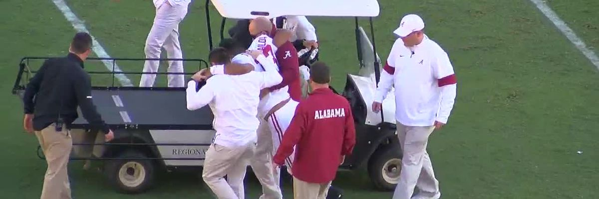 Tua carted off the field after injury