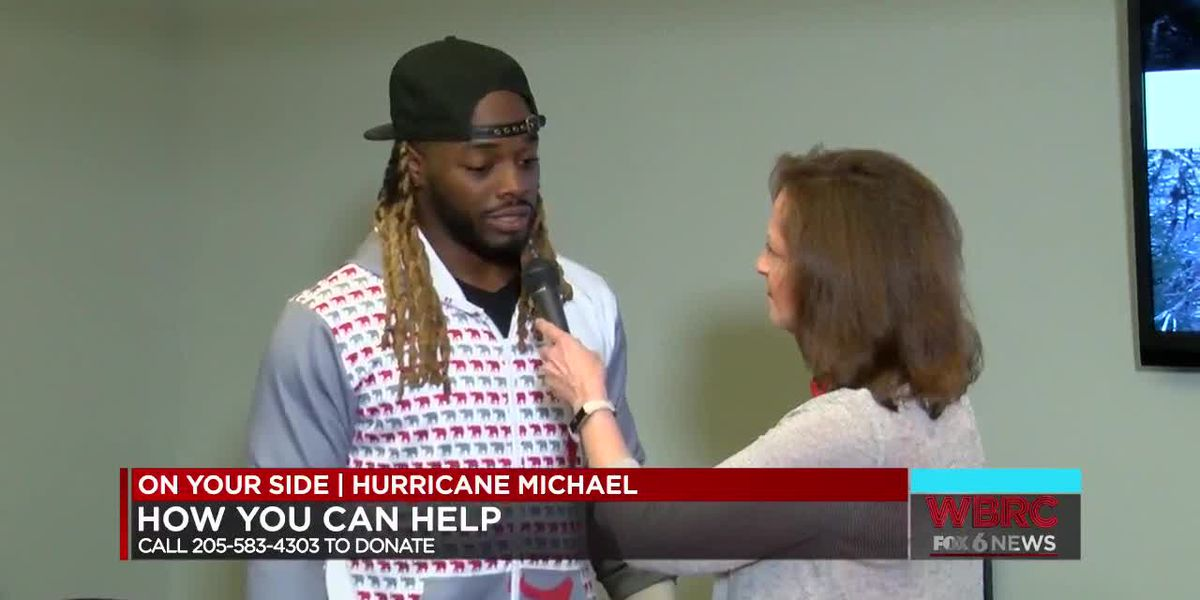 Trent Richardson helping with Hurricane Michael Relief Drive