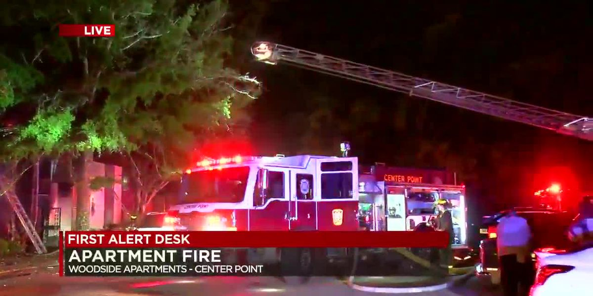 Crews working apartment fire in Center Point
