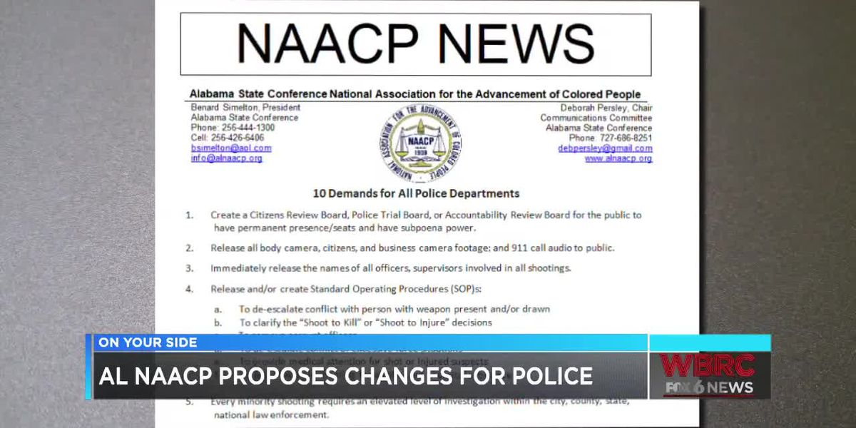 NAACP makes demands in wake of recent officer-involved killings