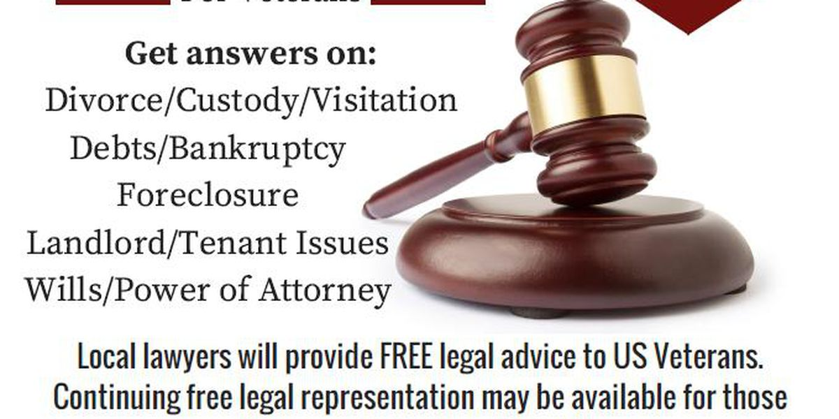 Free legal clinic for Veterans in Tuscaloosa Friday