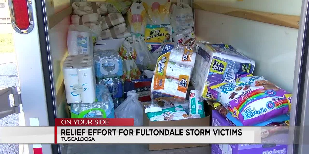 Tuscaloosa-area groups collect donations for Jefferson County tornado victims