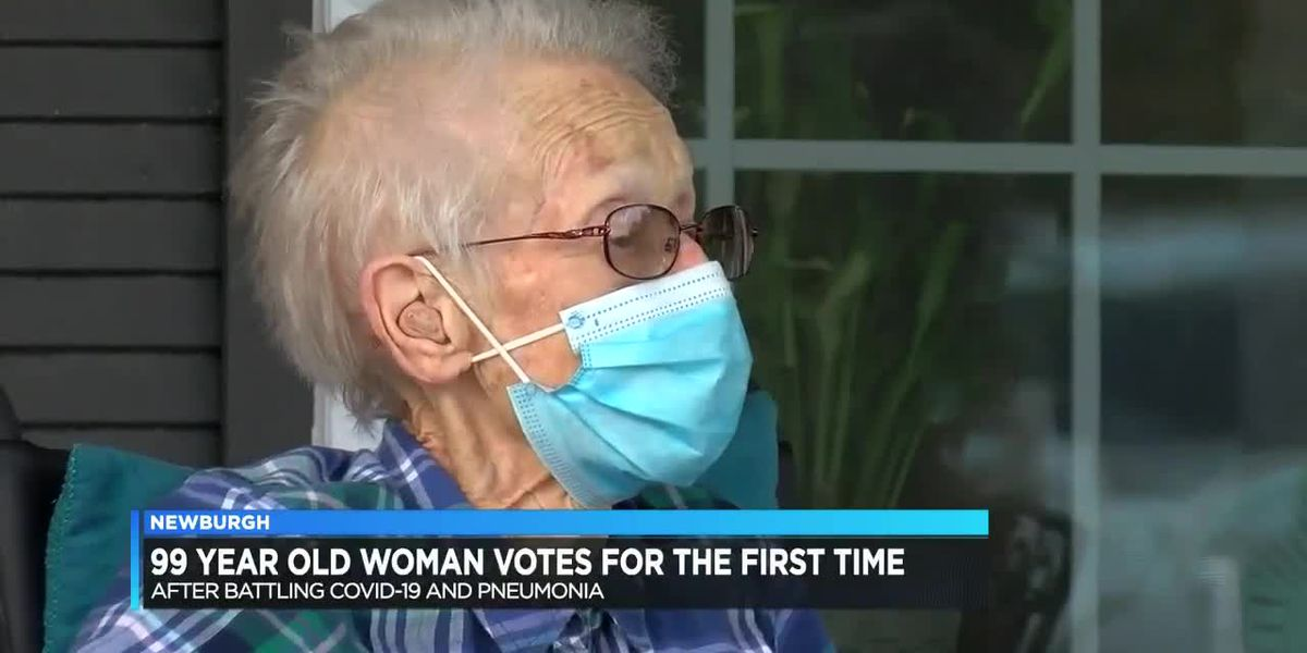 99-year-old woman votes for first time after surviving COVID-19