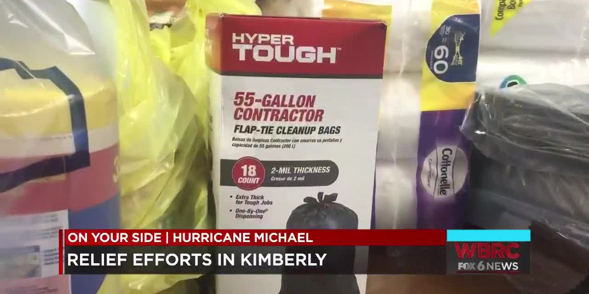 Hurricane relief efforts in Kimberly