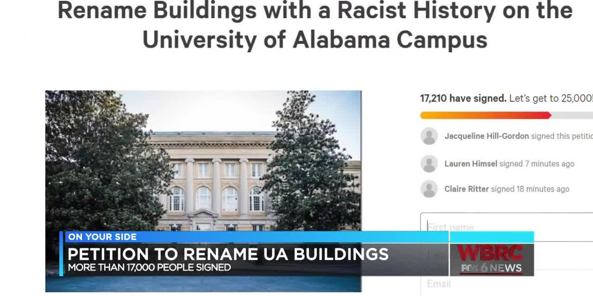 Petition to rename buildings on UA campuses