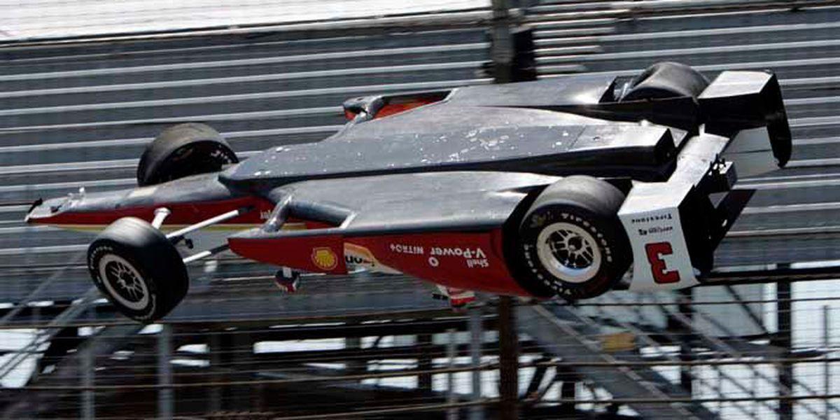 Indy car driver flips car, walks away from crash